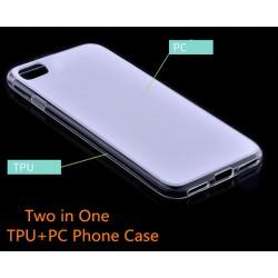 Lot de 100 Coques pour iphone 6, 6s TPU, PC Deux en un, coter souple et fond rigide, transparent et blanc ou noirs et blanc