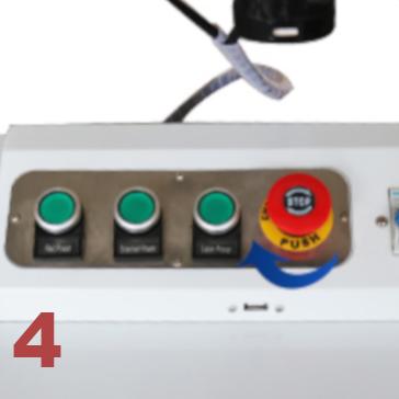 Découpeur graveur laser fibre tableau de control