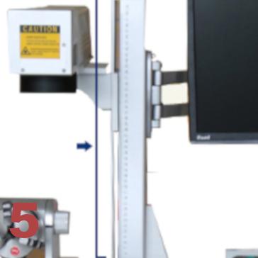 Découpeur graveur laser fibre echelle de marquage
