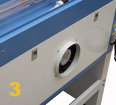 decoupeur laser Co2 extracteur de fumée
