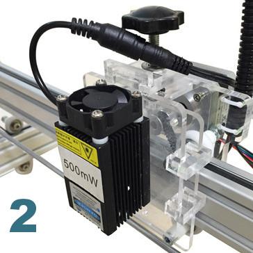Laser ultra violet 500 mW pour machine gravure decoupe laser UV 100 cm X 100 cm