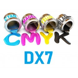 Encre UV 6 couleurs Epson DX7 matériaux souples objet publicitaire
